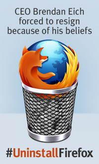 #NoZilla Desinstala tu Firefox. No a la 'inquisición gay'